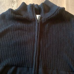 NWT Calvin Klein Men's Full Zip Black Sweater